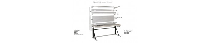 Workbench Cantilever & Adjustable Height Cantilever