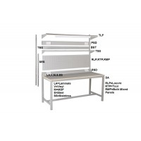 Heavy Duty Square Tube Workbench Capacity 450kg