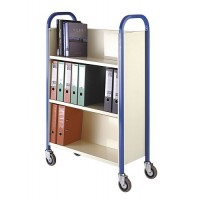 Wooden & Tubular Book Trolley Great for Office or Classrooms.