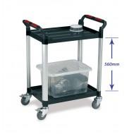 2 Tier Utility Tray Trolley  Standard Size