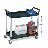 2 Tier Utility Tray Trolley  Large Size