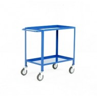 2 Tier Trolley Overall Height 840mm Blue Epoxy