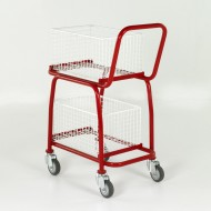 2 Tier Basket Trolley