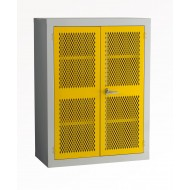 Mesh Door Cabinet H1220 x W915 x D457mm 2 Shelves