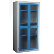 Polycarbonate Door Cabinet H1830 x W915 x D457mm 3 Shelves