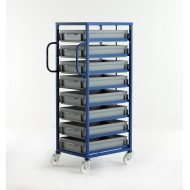 Mobile Tray Rack for 120mm High Trays + Handle
