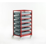Mobile Tray Rack 6 Tier