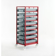 Mobile Tray Rack 8 Tier