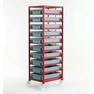 Mobile Tray Rack 10 Tier