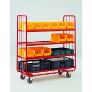 Small 4 Tier Container Shelf Trolley