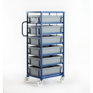 Mobile Tray Rack 6 Tier 164mm Tray Height
