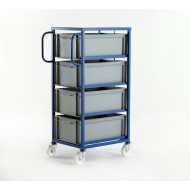 Mobile Tray Rack 4 Tiers Tray Height 220mm