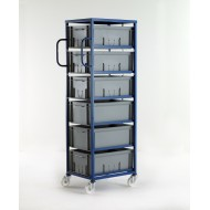 Mobile Tray Rack 6 Tier 220mm Tray Height