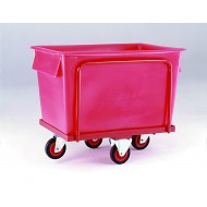 Plastic Container Truck with Balanced Wheel Configuration