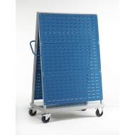 Louvre Panel Trolley Double Sided 3 Panels High