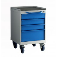 4 Drawer Mobile Cabinet H780 X W500 X D615mm