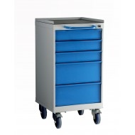 5 Drawer Mobile Cabinet H980 X W500 X D615mm