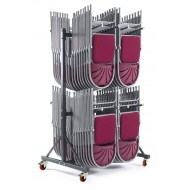 High Hanging Chair Storage Trolley 2 Rows