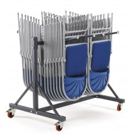 Low Hanging Chair Storage Trolley 2 Rows