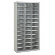 36 Steel Bin Cabinet 1820mm High 305mm Deep Bin Sizes 296 X 148mm