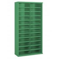 24 Steel Bin Cabinet 1820mm High 355mm Deep Bin Size 445 x 148mm.