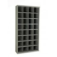 32 Steel Bin Cabinet 1820mm High 305mm Deep Bin Size 222 x 220mm
