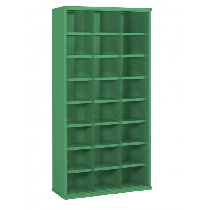 24 Steel Bin Cabinet 1820mm High 305mm Deep Bin Size 296 X 220mm