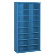16 Steel Bin Cabinet 1820mm High 305mm Deep Bin Size 445 X 220mm