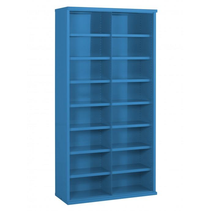 16 Steel Bin Cabinet 1820mm High 355mm Deep Bin Size 445 X 220mm