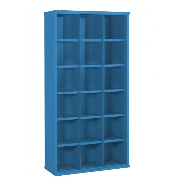 18 Steel Bin Cabinet 1820mm High 355mm Deep Bin Size 296 X 293mm