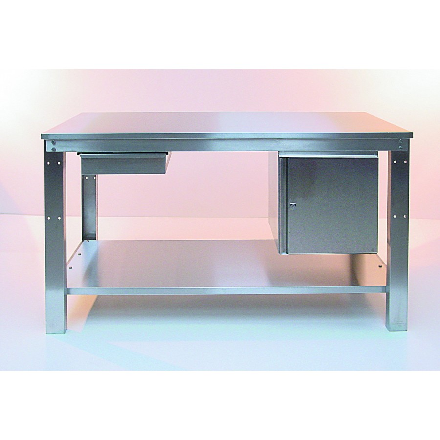 easy order heavy duty stainless steel workbench 1500x750. Black Bedroom Furniture Sets. Home Design Ideas