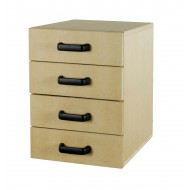 Wooden 4 Drawer Unit - Left Hand Fitting