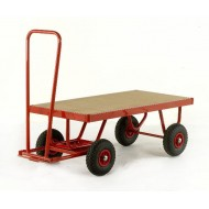 Hand Turntable Trailers - Deck Size 1200x600mm - MDF Deck - Pneumatic Tyres