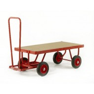 Hand Turntable Trailers - Deck Size 1200x600mm - MDF Deck - Solid Tyres