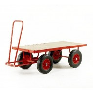 Hand Turntable Trailers - 1200x600mm - Steel Deck - Pneumatic Tyres