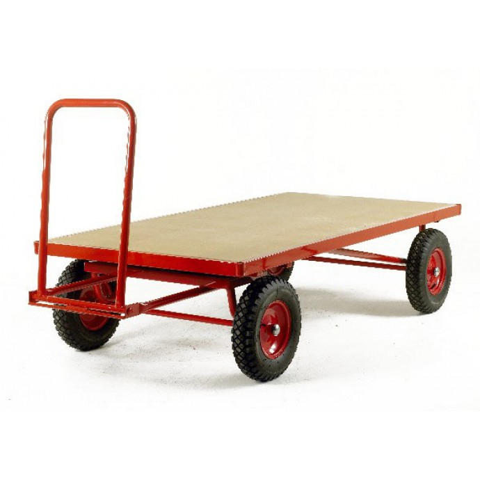 Hand Turntable Trailers - Deck Size 2000x1000mm - MDF Deck - Pneumatic Tyres