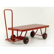Hand Turntable Trailers - Deck Size 1200x600mm - Steel Deck - Solid Tyres