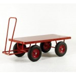 Hand Turntable Trailers - 1500x750mm - Steel Deck - Solid Tyres