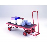 Hand Turntable Trailers - 1200x600mm -  Phenolic Deck On Solid Tyres