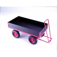 Hand Turntable Trailers - 1200x600mm Phenolic Deck, Ends and Sides