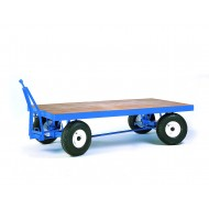 Double Ackerman Towing Trailer - 2000x1000mm 1000kgs Pneumatic Tyres