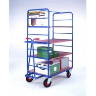 Shelf Truck With Drawer Bar Handle 1000 x 700mm Deck Shelf Levels 635, 1005 & 1375mm