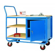Workshop Trolley - Shelf & Cupboard Combination