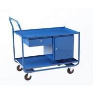 Workshop Trolley Combo with Shelf, Drawer & Cupboard.