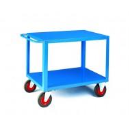 Table Trucks 1000x600mm Steel Top & Bottom Deck Capacity 500kg