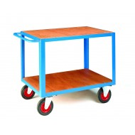 Table Trucks 1000x600mm TimberTop & Bottom Deck 500kg Capacity