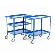 3 Tier Tray Trolley Overall Height 840mm Blue Epoxy