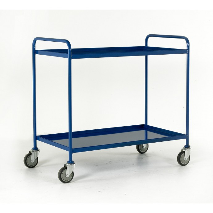 2 Tray Trolley Tray Size 1065 X 610 Blue Epoxy