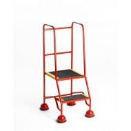 2 Tread Step Classic Plus Colour with Tread Clamps & Handrails